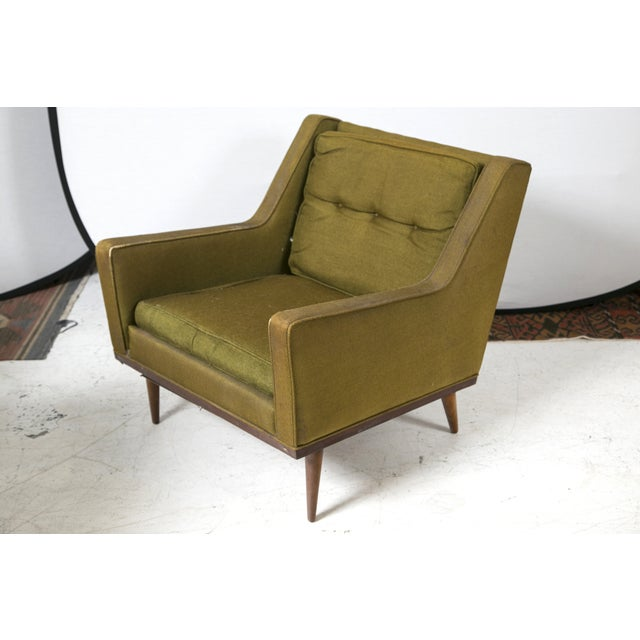 Milo Baughman Vintage 1950s Green Chairs - A Pair - Image 4 of 6