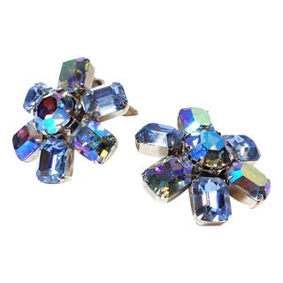 Weiss Aurora Borealis Earrings