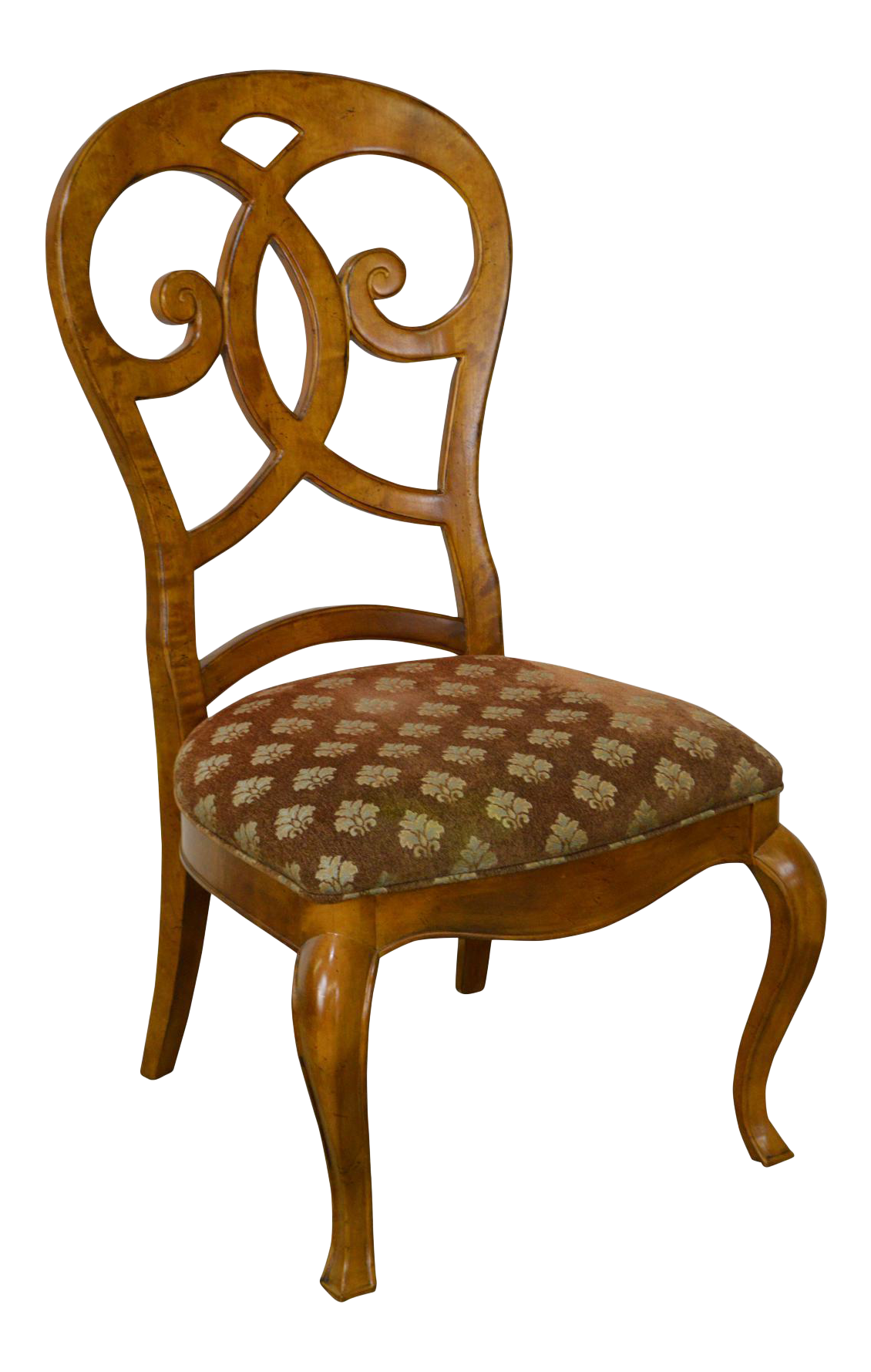 Nice Biedermeier Style Burl Wood Side Chair By Thomasville