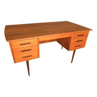 Vintage Danish Modern Executive Teak Desk
