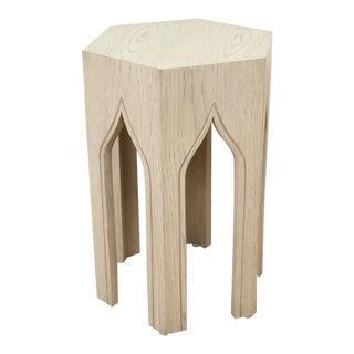 Small Tabouret Table by Lawson-Fenning in White Washed Oak