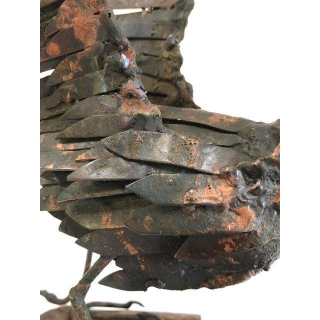 Vintage Copper Sandpiper Sculpture - Image 9 of 11