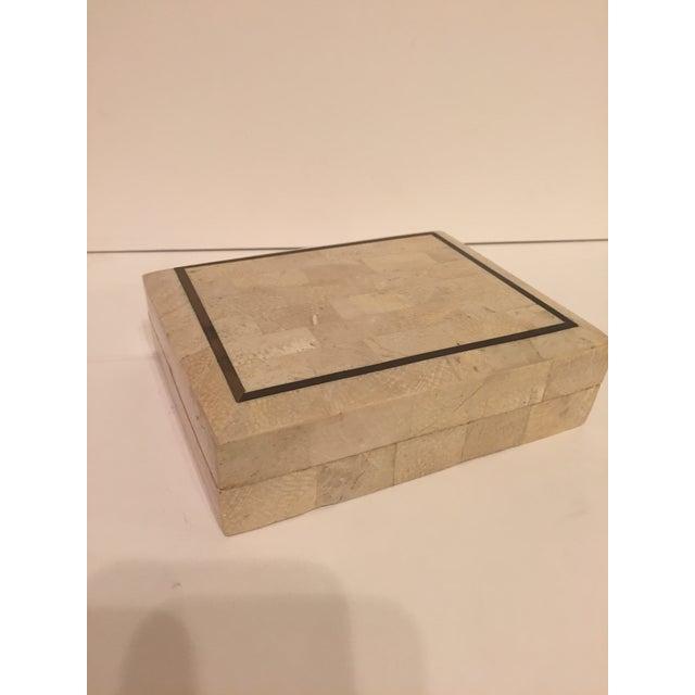 Tessellated Stone Maitland Smith Style Box - Image 2 of 4