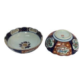 Colorful Japanese Imari Bowls - A Pair