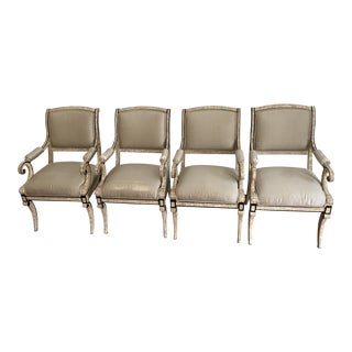 Traditional Import Neoclassical Arm Chairs - Set of 4