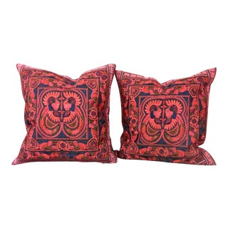 Embroidered Bohemian Pillows - A Pair