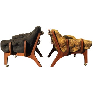 Sculptural Mid-Century Claw Chairs - A Pair