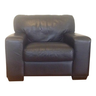 Plush Black Leather Chair