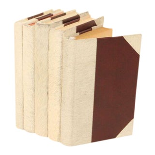 Hide Collection White Cowhair Books - Set of 5