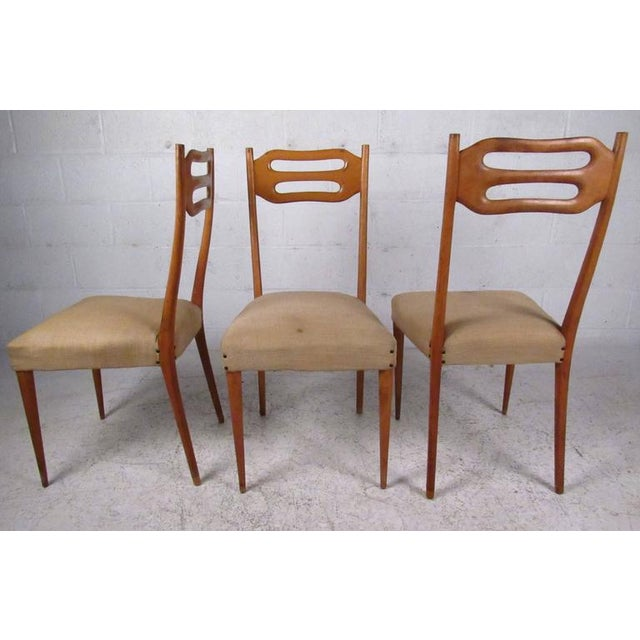 Sculptural Italian Modern Dining Chairs - Set of 6 - Image 3 of 10