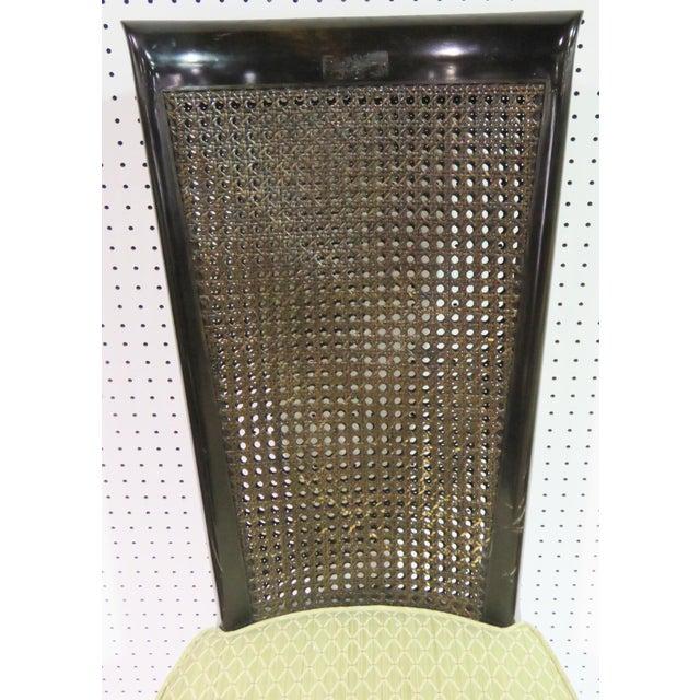 6 Harvey Probber Ebonized Caned Back Dining Chairs - Image 6 of 6