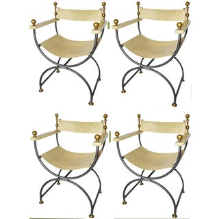 Vintage Maison Jansen French Armchairs - Set of 4