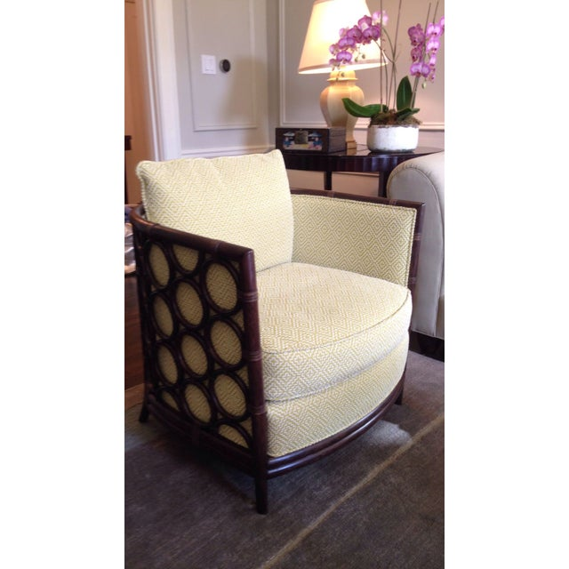 Designer Rattan Circle Motif Club Chair - Image 3 of 3