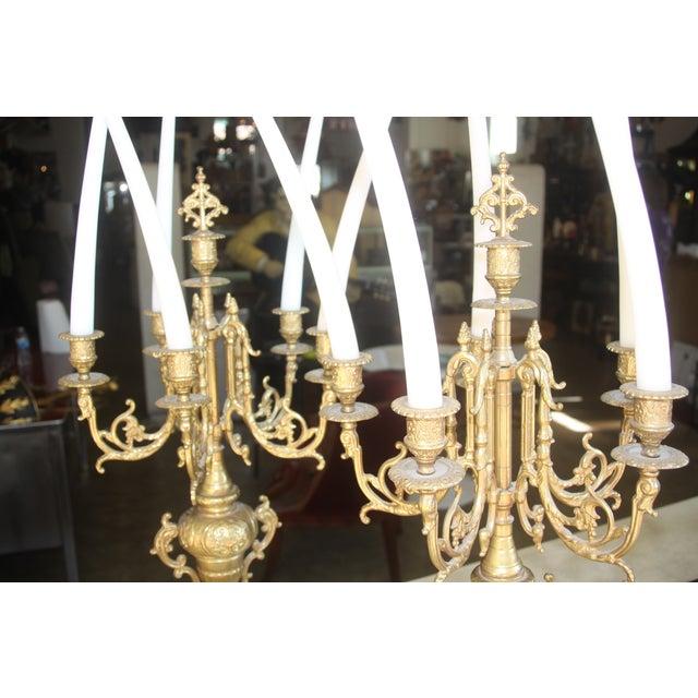 Baroque Italian Bronze Candelabras - A Pair - Image 10 of 10