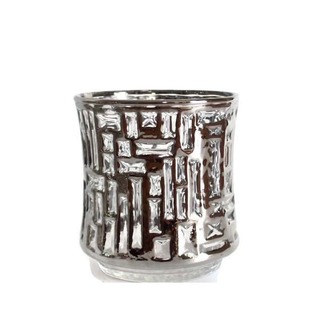 Mid-Century Artica Lowball Glasses, Silver Bamboo - Image 3 of 7