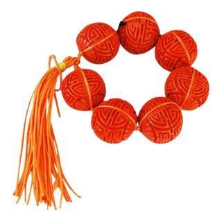 "Kim Seybert Orange ""Cinnabar"" Napkin Rings - Set of 8"