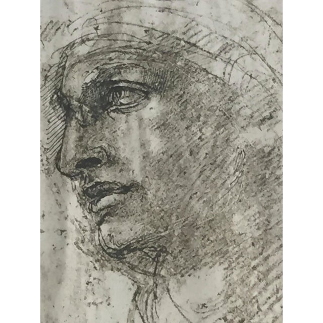 """Michelangelo """"Head of a Youth"""" British Museum Fine Art Print - Image 3 of 7"""
