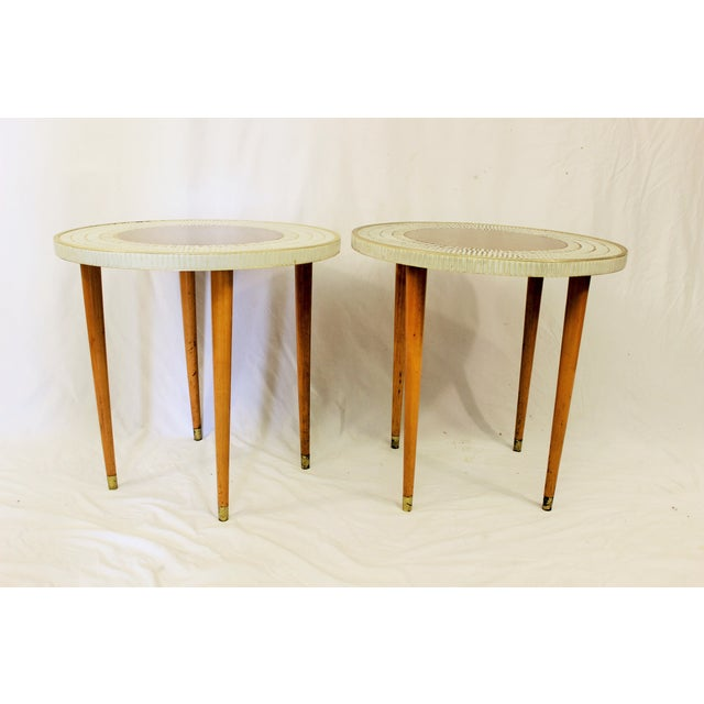 MCM End Tables with Tiled Top - 2 - Image 2 of 3