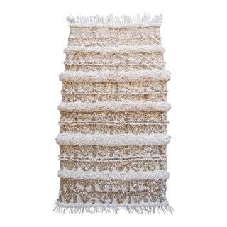 """Vintage Moroccan Wedding Blanket Handira - 48"""" x 83"""""""