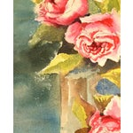 Image of 1950 Vintage Rose Arrangement Watercolor Painting