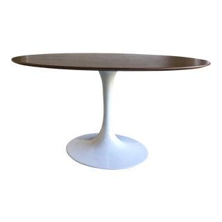 Mid-Century Style Walnut Top Tulip Dining Table