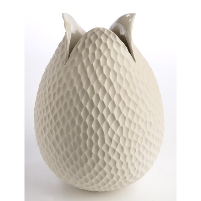 Mid-Century German Ceramic Tulip Vase - Image 3 of 3