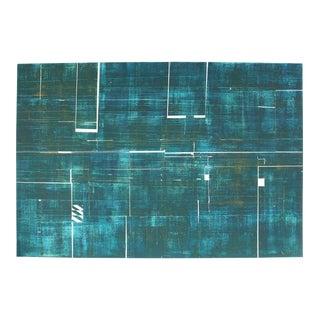 Seymour Tubis Large Abstract Collograph Print