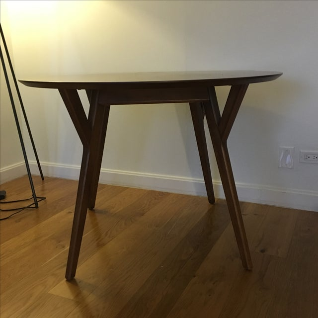 West elm mid century round dining table chairish for West elm c table