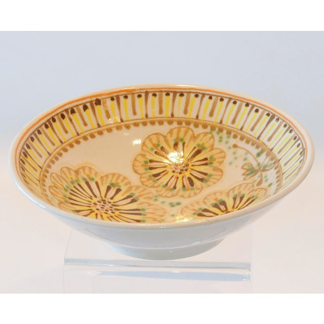 Mid-Century Janet Rothman Floral Bowl - Image 2 of 11