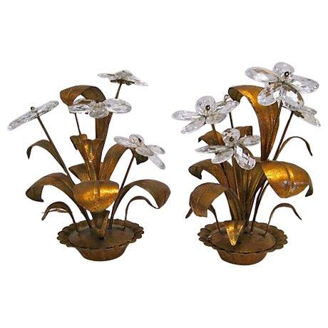 Florentine Floral Centerpieces - A Pair - Image 1 of 7