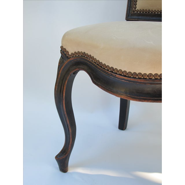 Cream Leather Spanish-Style Chairs - A Pair - Image 10 of 11