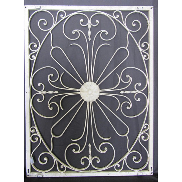 Vintage Painted Iron Wall Panel - Image 2 of 10