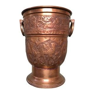 Nader Mid-Century Brass Over Copper Ice Bucket