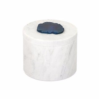 Marble Box with Agate Stone