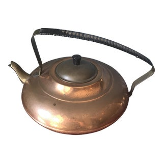 Mid-Century Copper Teapot
