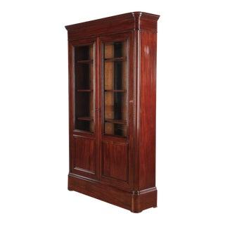 Restoration Period Mahogany Bookcase, France 1820s