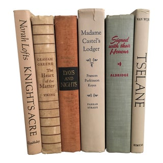 Mid-Century Neutral Earth Tones Book - Set of 6