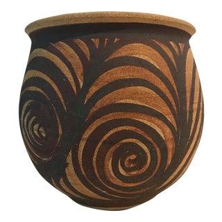 Swirled Studio Pottery Planter