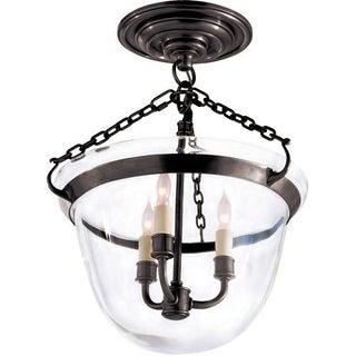 Visual Comfort Bronze Semi-Flush Ceiling Light