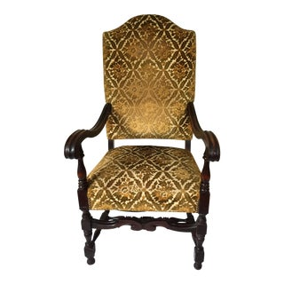 Antique Louis XIV Style Mahogany Armchair
