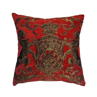 English Coat of Arms Red Tapestry Pillow