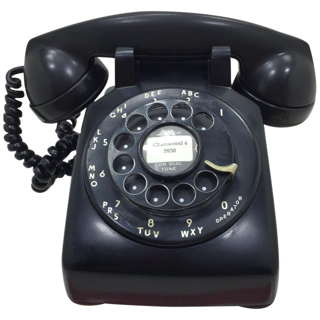 Black Western Electric 5302 Rotary Dial Telephone - Image 1 of 11