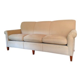 Baker Transitional Sofa Reupholstered in Ralph Lauren Cotton Fabric