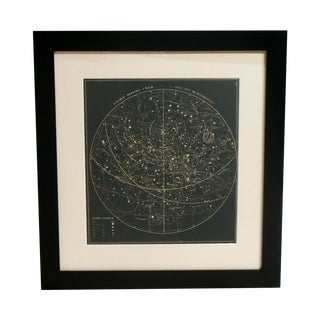 19th Century Woodblock Print Visible Sky Map
