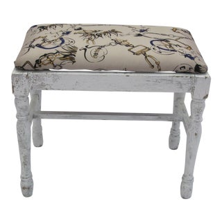 Vintage Equestrian Themed Footstool/Bench