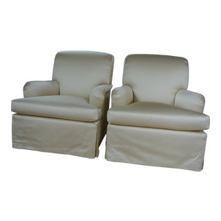 Yellow Willis Club Chairs - A Pair