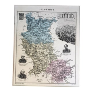 "19th C. ""La France"" Map of France"