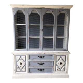 Distressed Country French Hutch