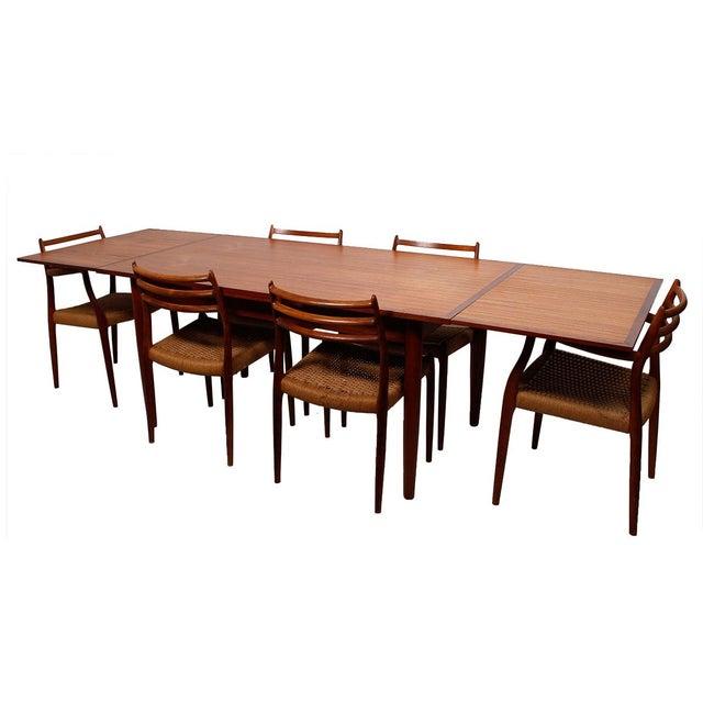 Danish Modern Teak Two-Tone Expanding Dining Table - Image 5 of 6