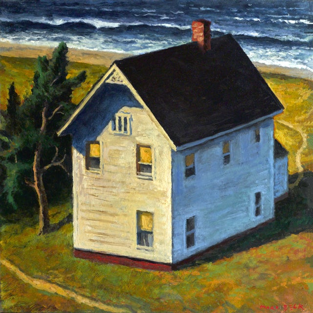 """Around the House"" Oil Painting - Image 1 of 2"